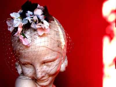 Vintage veiled fascinator